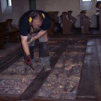Rückbau der Inneneinrichtung der Erlöserkirche in Witten-Annen