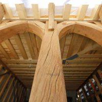 Holzkonstruktion des Hauses