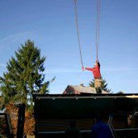 Stand für den Weihnachtsmarkt aus Altholz
