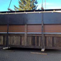 Mobiler Marktstand aus Altholz