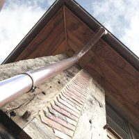 Historisches Eichenholz wurde auch für das Dach verwendet.