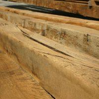 Wir bauen einen Dachstuhl aus wunderbar erhaltenem Eichenholz ab