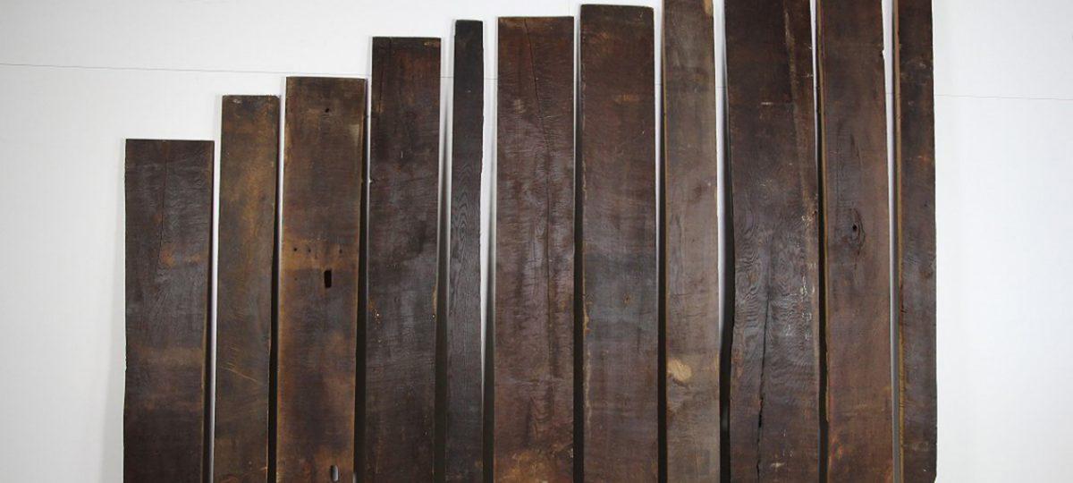 Position originale historische Dachbodenbretter aus Eichenholz