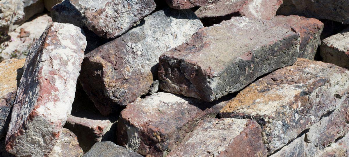 Alte, historische Mauerziegel