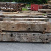Dübelhölzer von ehemaligen Holzdalbenbündeln
